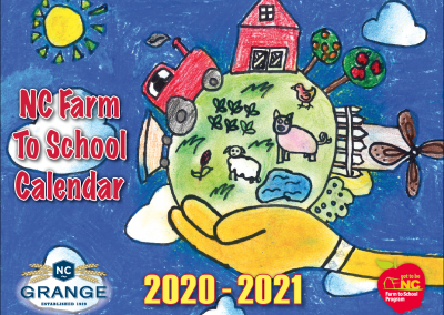 NC Farm to School Calendar Front Cover